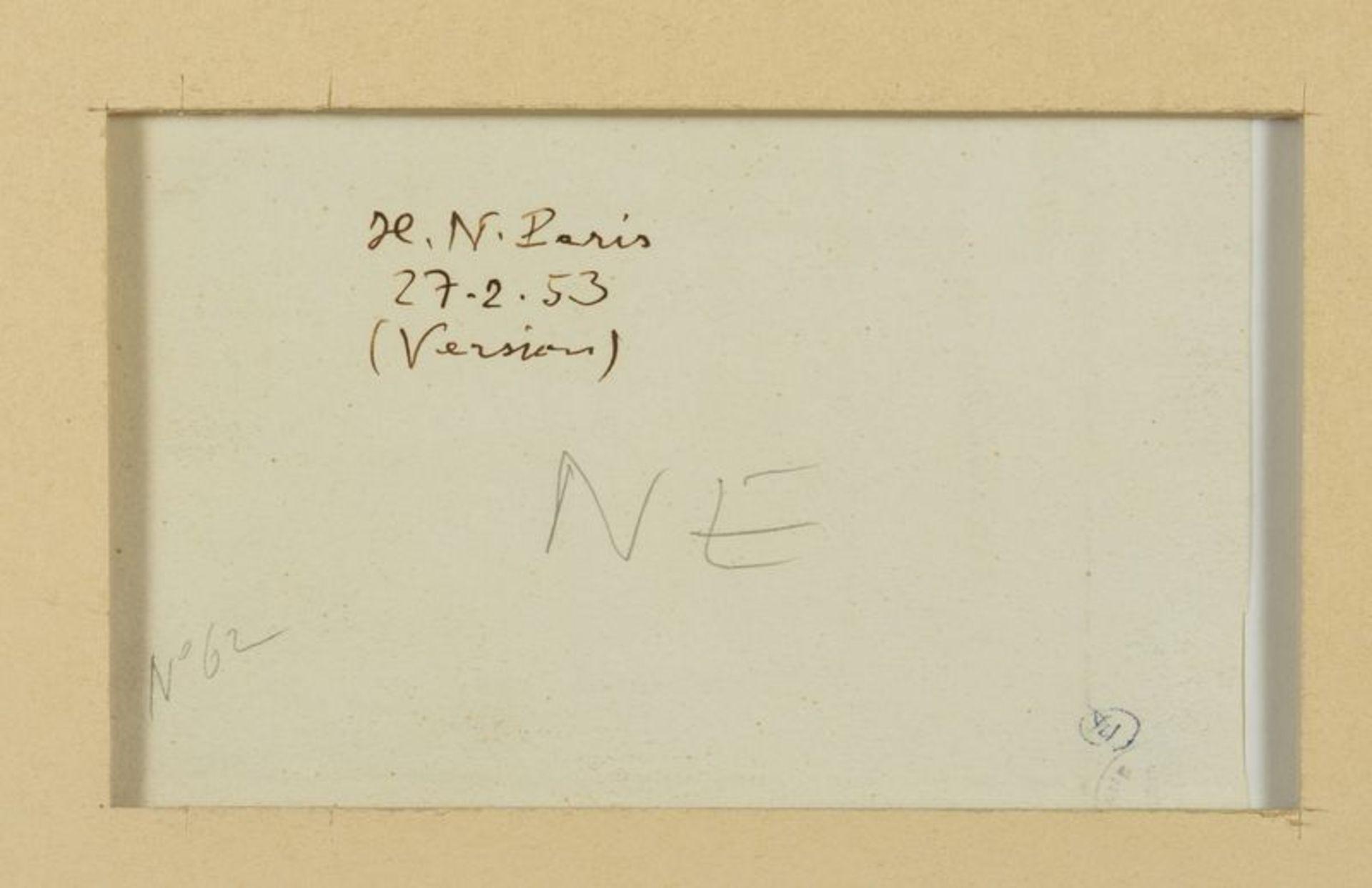 Los 43 - Henri NOUVEAU (1901-1959) - Version - Huile sur papier monogrammée, située Paris et [...]