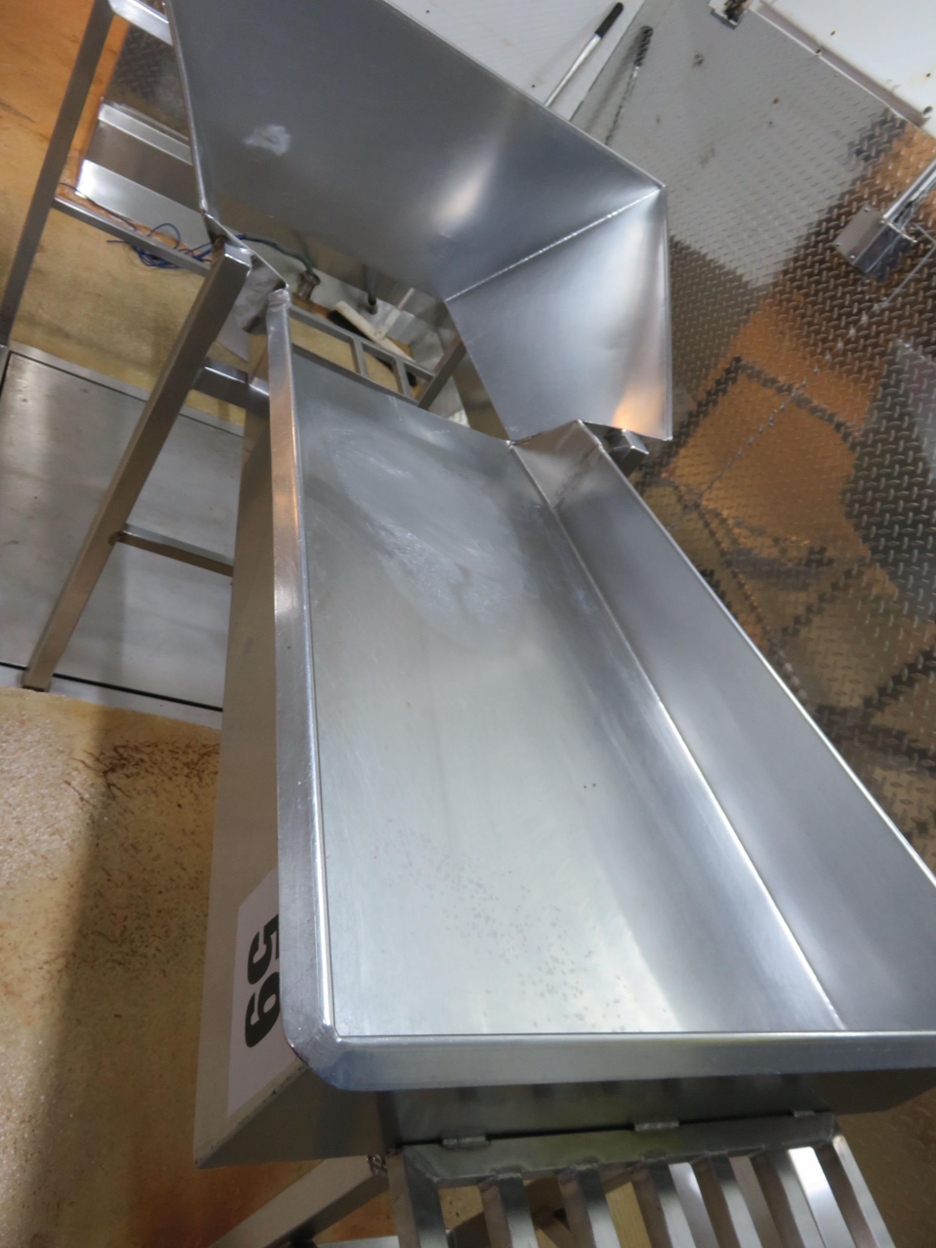 Lot 59 - S/s Sorting Table 2200 mm x 1100 mm. Lift out £30