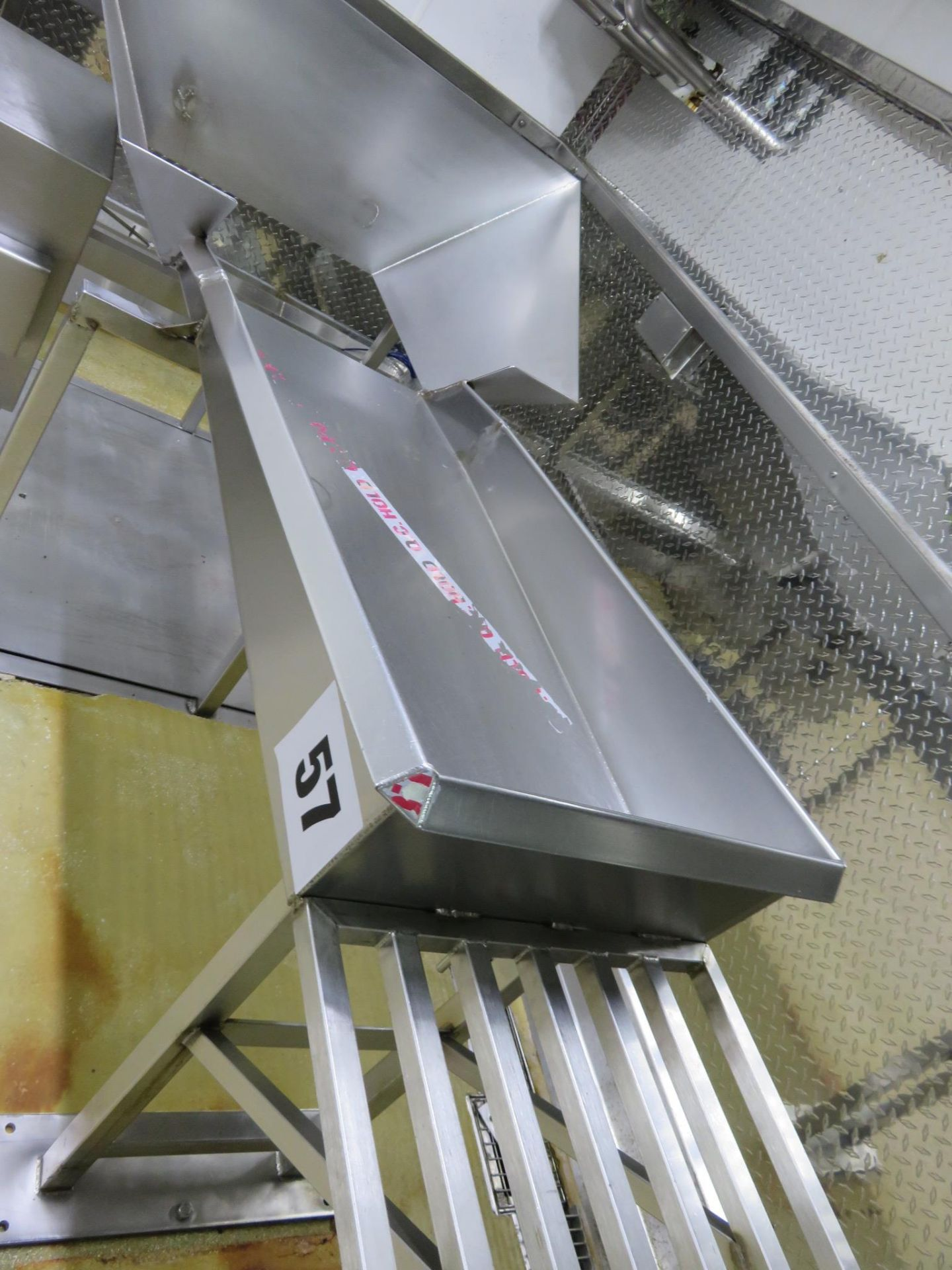 Lot 57 - S/s Sorting Table 2200 mm x 1100 mm. Lift out £30
