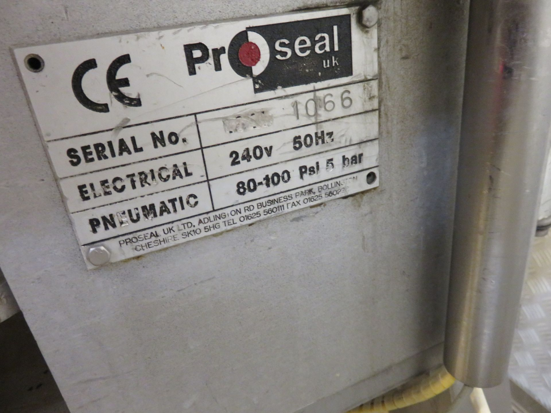 Lot 30 - Proseal model PGR30 with Gas. Die 2 across 800mm diameter. Mobile on wheels. Lift out £45