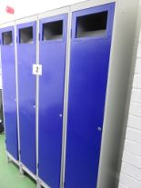 Lot 2 - 1 x Bank of 4 Laundry Lockers. Lift out £20