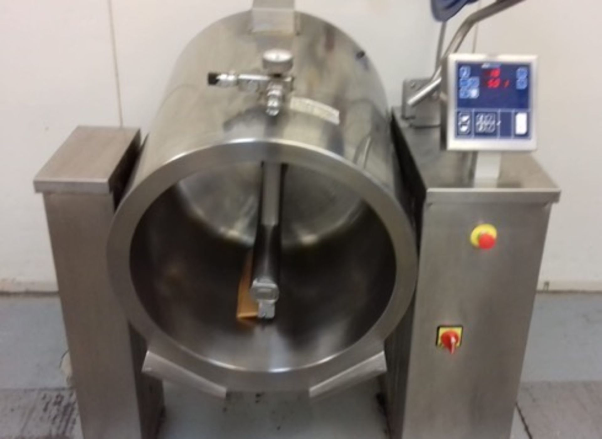 Lot 20 - Joni120 litre cooking Vessel with stirrer, electric heating, full digital read out an. Lift out £35