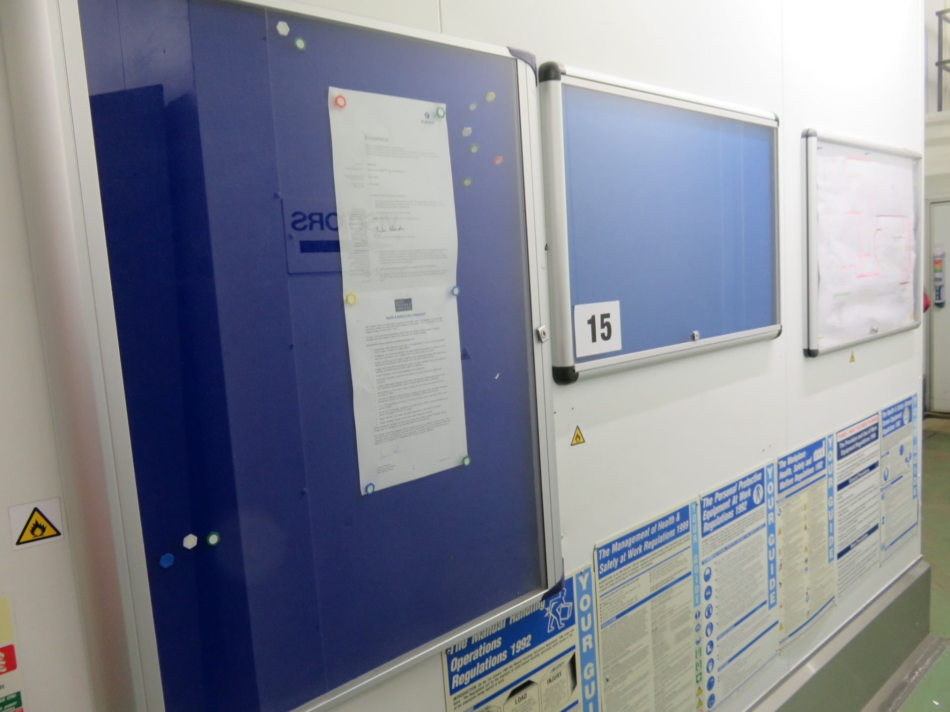 Lot 15 - 3 x Wall mounted Display Boards 800 x 1000mm high; 900 x 550mm high; 950 x 650 high. Lift out £15