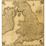 Lot 224 - Silk Map.- Great Britain and Ireland for the Year, map printed on silk, 1832.