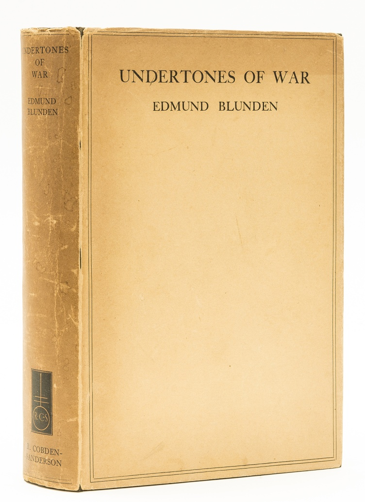 Lot 7 - Blunden (Edmund) Undertones of War, first edition, 1928.
