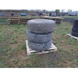 Lot 4 - 3x 385/65R22.5 tyres and 1 rim