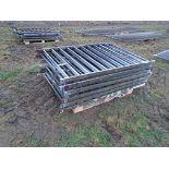 Lot 13 - 11x 6' metal fence panels
