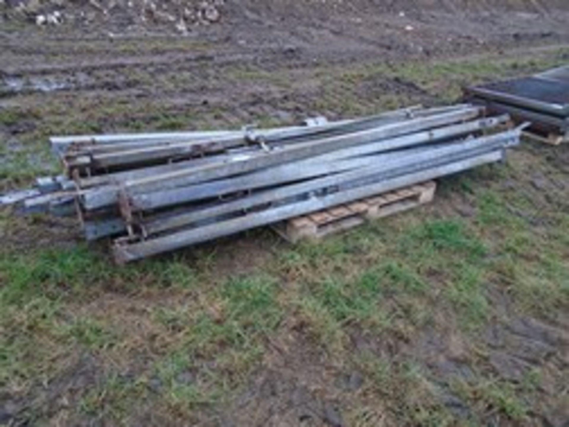Lot 10 - Heap of metal gate posts