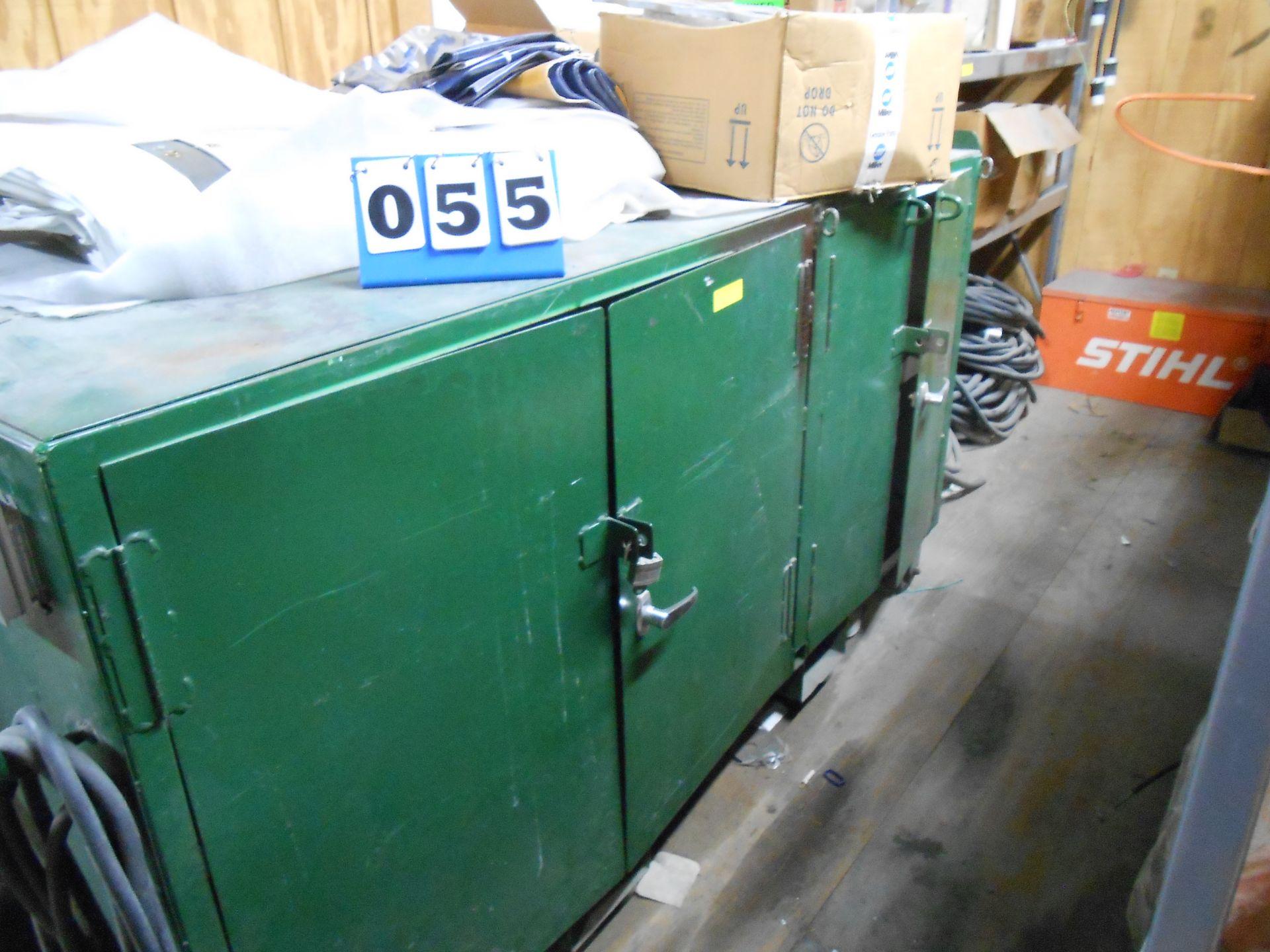 Lot 55 - 3-Door Site Box w/Vise