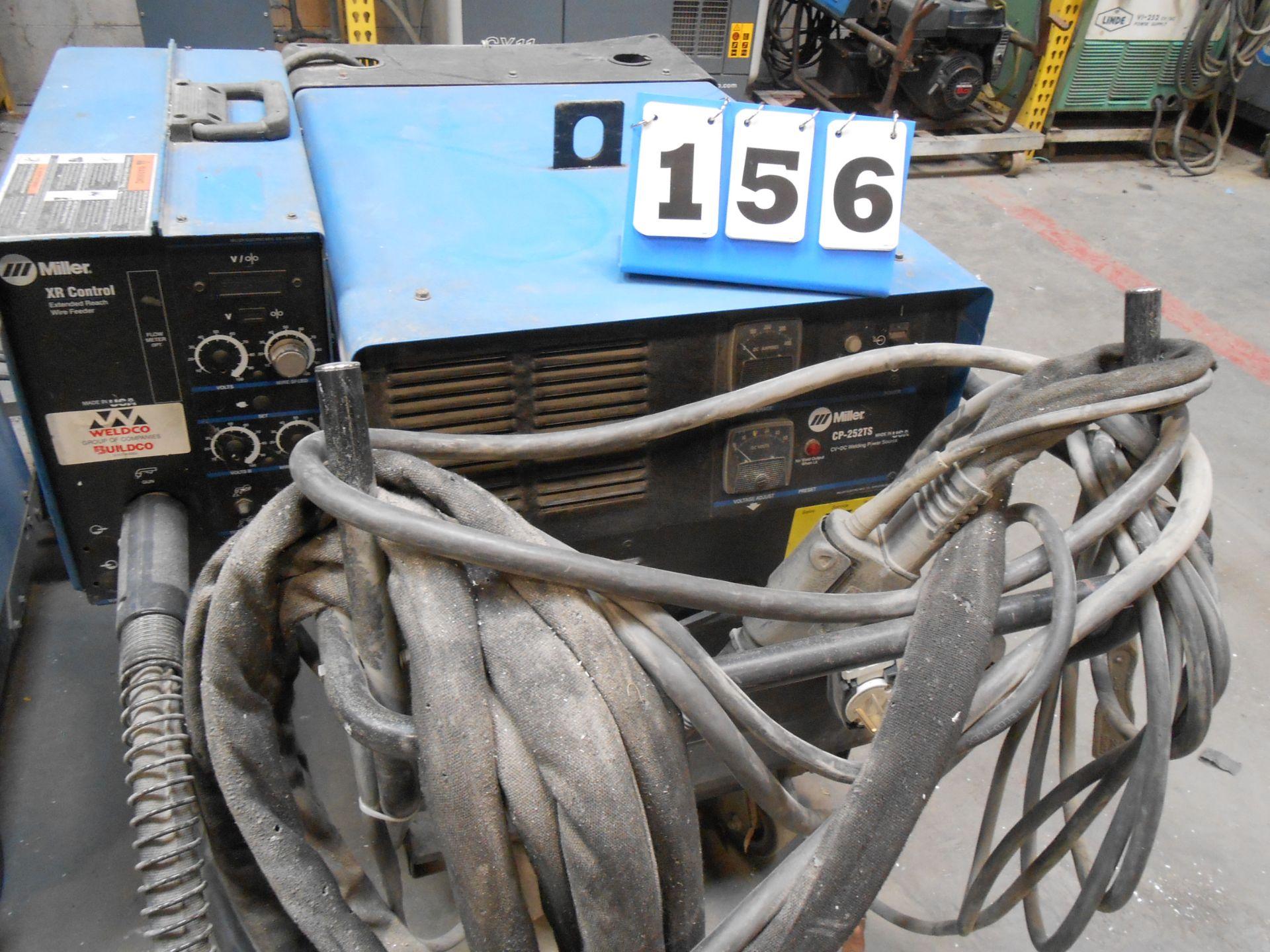 Lot 156 - Miller CP-252-TS Welder w/XR Extended Wire Feeder