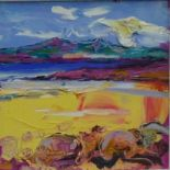 Lot 184 - Judith Bridgland 'Study, Sands at Seamill' Acrylic, signed, in a glazed and silver giltwood frame,