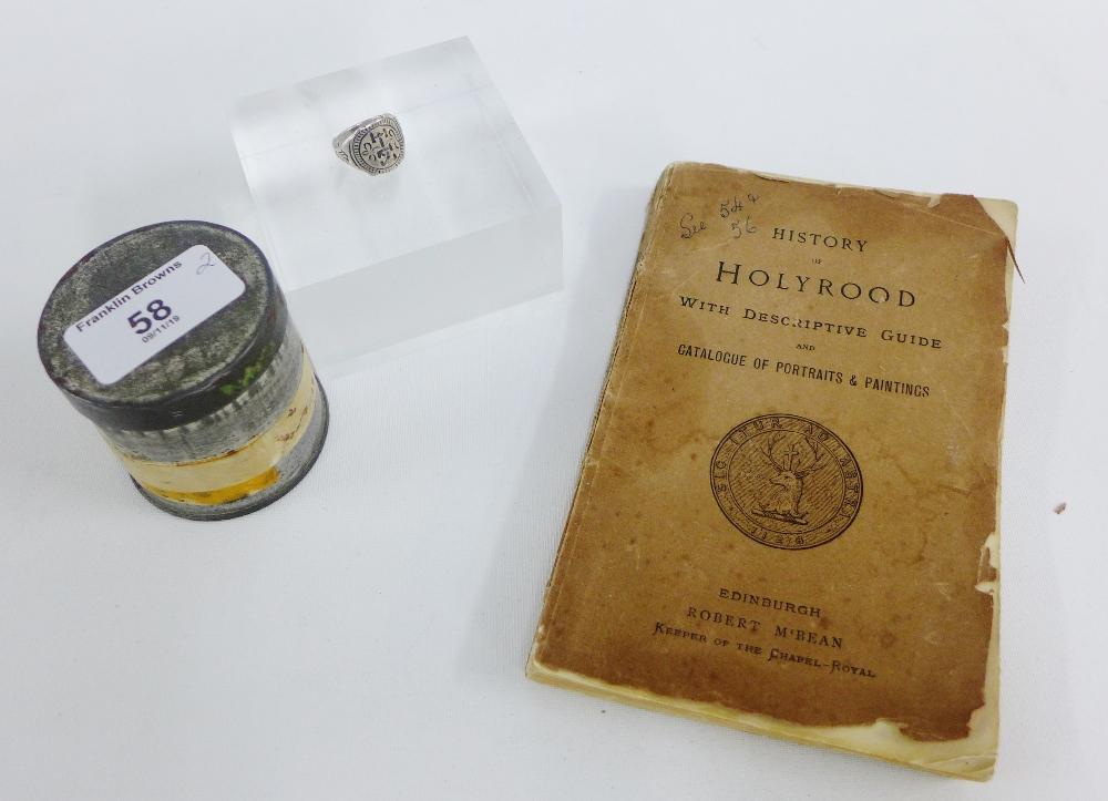 Lot 58 - Silver Lord Darnley ring and History of Edinburgh, Robert McBean (2)