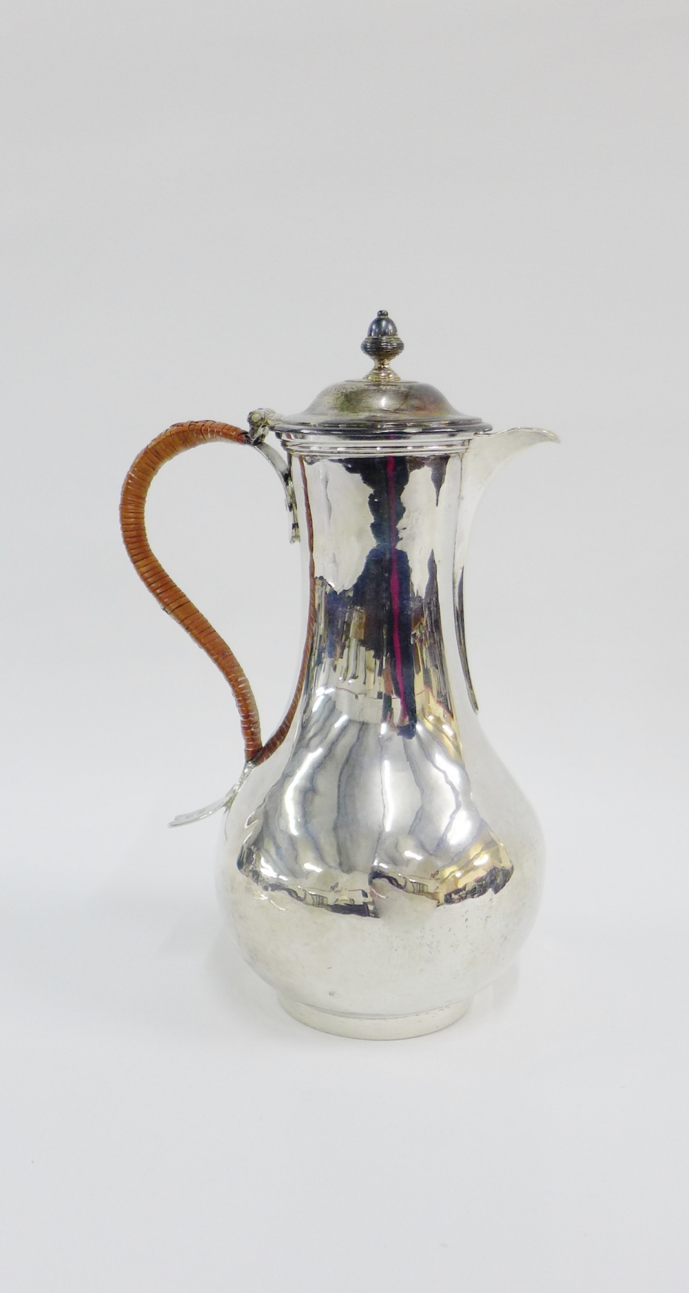 Lot 49 - George II silver coffee pot, makers mark for William Cripps, London 1750, 24cm high