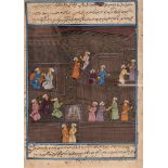 AN INDO-PERSIAN MINIATURE PAINTING – 19th CENTURYMiniature painting with colors on paperIndia /