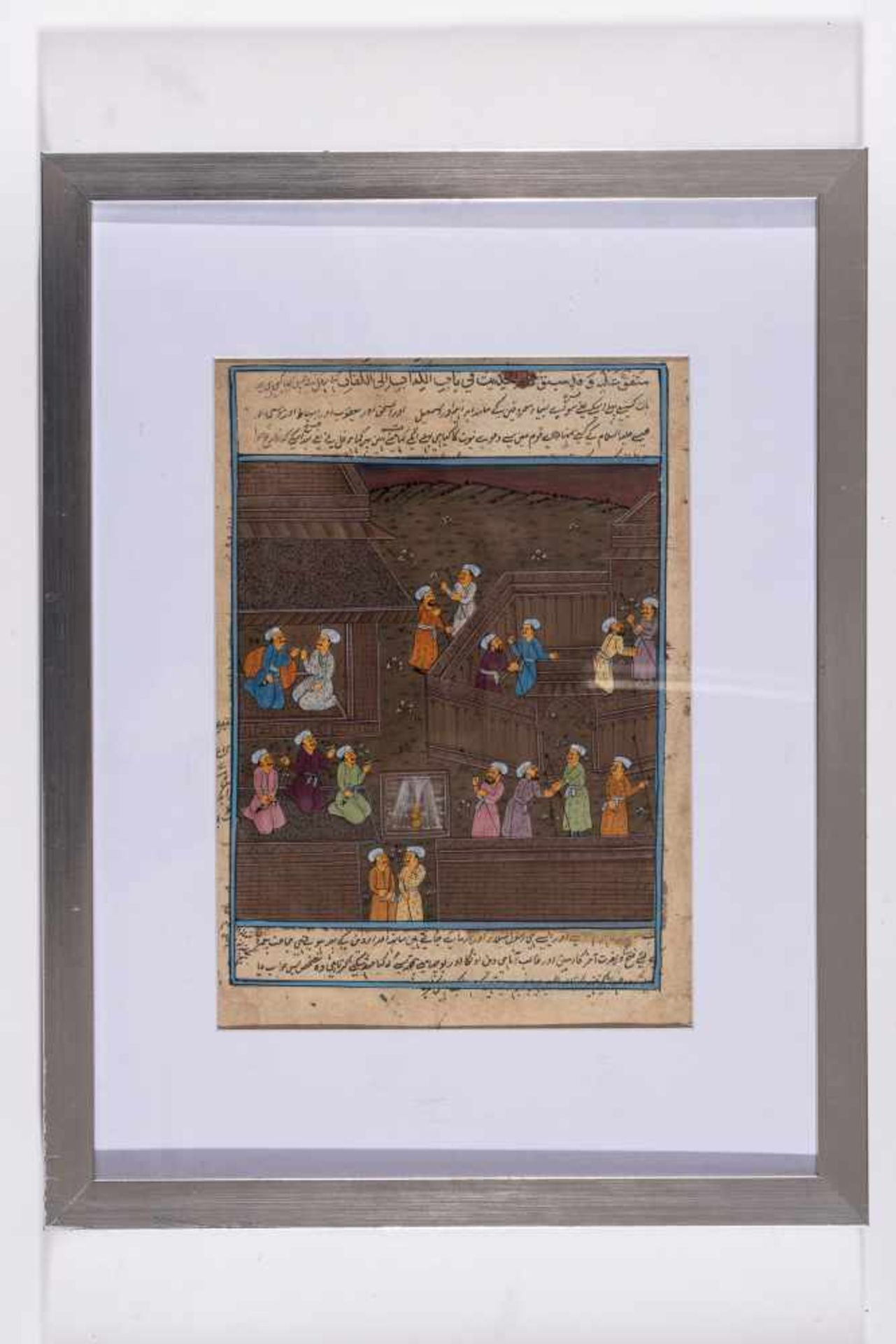 AN INDO-PERSIAN MINIATURE PAINTING – 19th CENTURYMiniature painting with colors on paperIndia / - Image 2 of 2