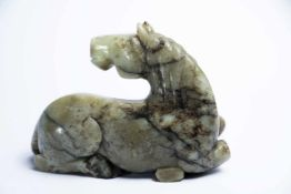 Chinesisches Jade-Pferdca. 16 x 12 x 6 cmProvenienz: Privatsammlung Zürich.A Chinese Jade Horse, ca.