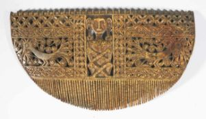 Rare and very large Crown-Comb, Indonesia, Tanimbar-Island, probably Selaru around 1960,