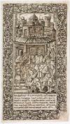 Versuchung des Teufels zur Völlerei Russischer Holzschnitt (?) aus Sinodnik, wohl 17. Jh. 26,5 x