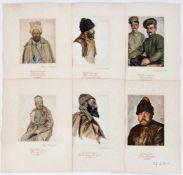 Portraits berühmter Maler von folgenden Personen: Ukrainer, Grossrusse, Armenier, Kirgise,