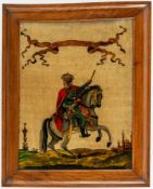 Zar Paul I. von Russland (1754-1801) Hinterglasmalerei, wohl um 1900 42 x 32,5 cm, Rahmen 50,5 x