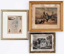 3 Graphiken rund um Napoleonverschiedene GrössenKarte von Korsika, gravé par Legenisel, dressée