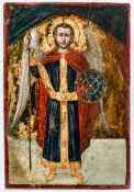 Hl. Erzengel Michael Griechische Ikone, 18. Jh. 32,5 x 22 cmSt. Archangel Michael, Greek icon,