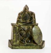 Bogatyr Russland, Bronze-Relief mit Standfuß, 20. Jh.15 x 12,5 cmBogatyr, Russia, Bronze, 20th c.,