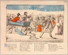 """Lubok """"Ehemann amüsiert seine Frau"""" Russischer Volksbilderbogen, Moskau, 1875 35,3 x 44,2 cmLubok,"""