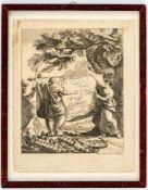 Kupferstich mit Karte von Russland von Christian Fritzsch, datiert 1754 23,8 x 19 cmZustand: