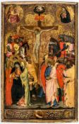 Important painting of the crucifixion of Jesus from the collection of Konrad Adenauer,Florence,