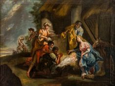 Very large painting of the Adoration of the Shepherds, Northern Italy, oil/canvas, 18thcentury, 70 x
