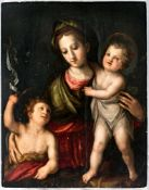Very large painting of the Madonna with the Infant Jesus and the young St.John theBaptist, Italy (