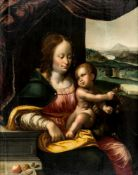 An important painting of the Madonna with the cherries, Netherlands, probably Antwerp, oil/ Panel,