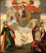 A rare painting of Our Lady of Loreto, Italo-Cretan painting, tempera/wood, 17th/18thcentury, 35,5 x