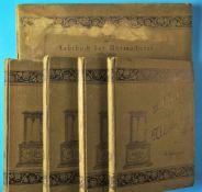 Claudius Saunier, vier Originalbände und Atlas zum Lehrbuch der Uhrmacherei in Theorie und Praxis,