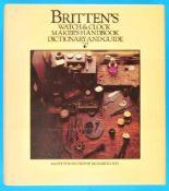 Britten's Watch & Clockmaker's Handbook Dictionary and GuideBritten's Watch & Clockmaker's