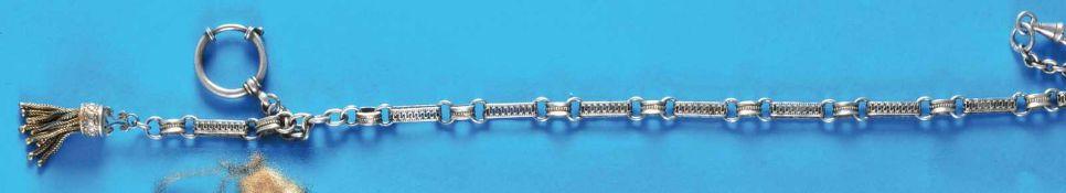 Silver pocket watch chainSilbertaschenuhrkette mit Quaste, L = 40 cm (3882)80
