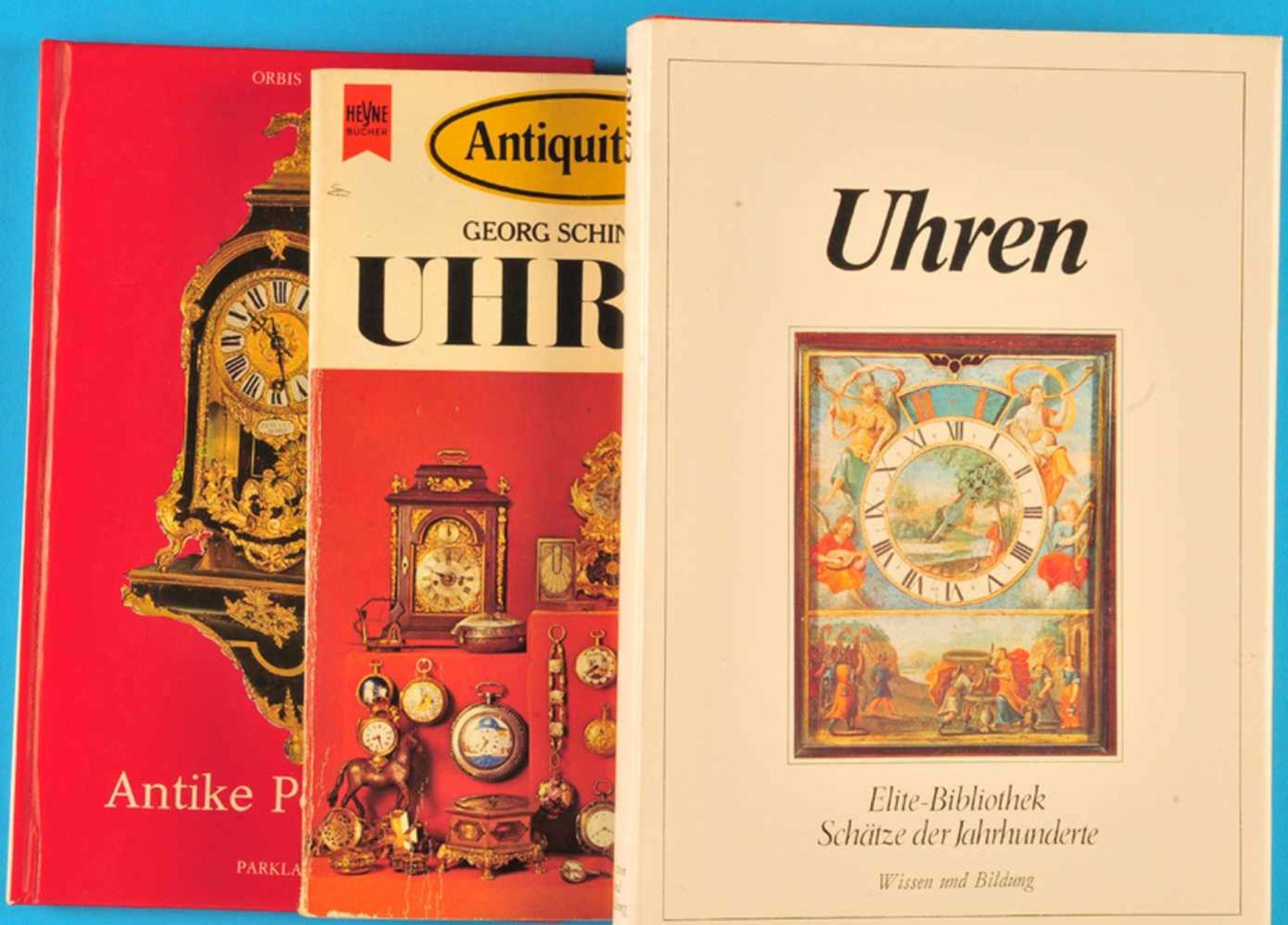 Los 47 - 3 Kleine Bücher: Georg Schindler, Uhren, 19753 Kleine Bücher: Georg Schindler, Uhren, 1975,