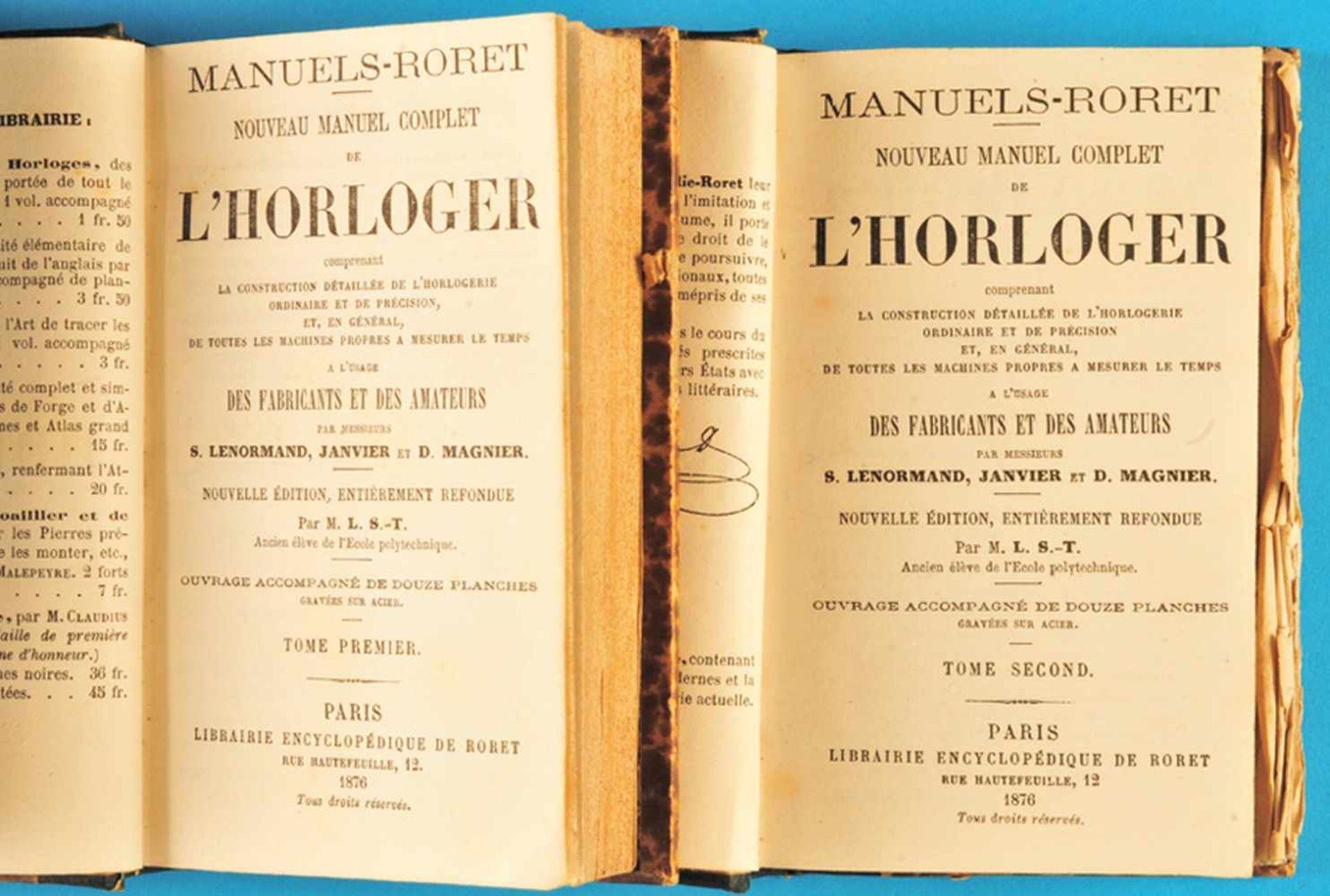 Los 9 - Lenormand / Janvier / Magnier, Encyclopédie-Roret. Horloger, Nouveau Manuel Complet de l'Horloger,