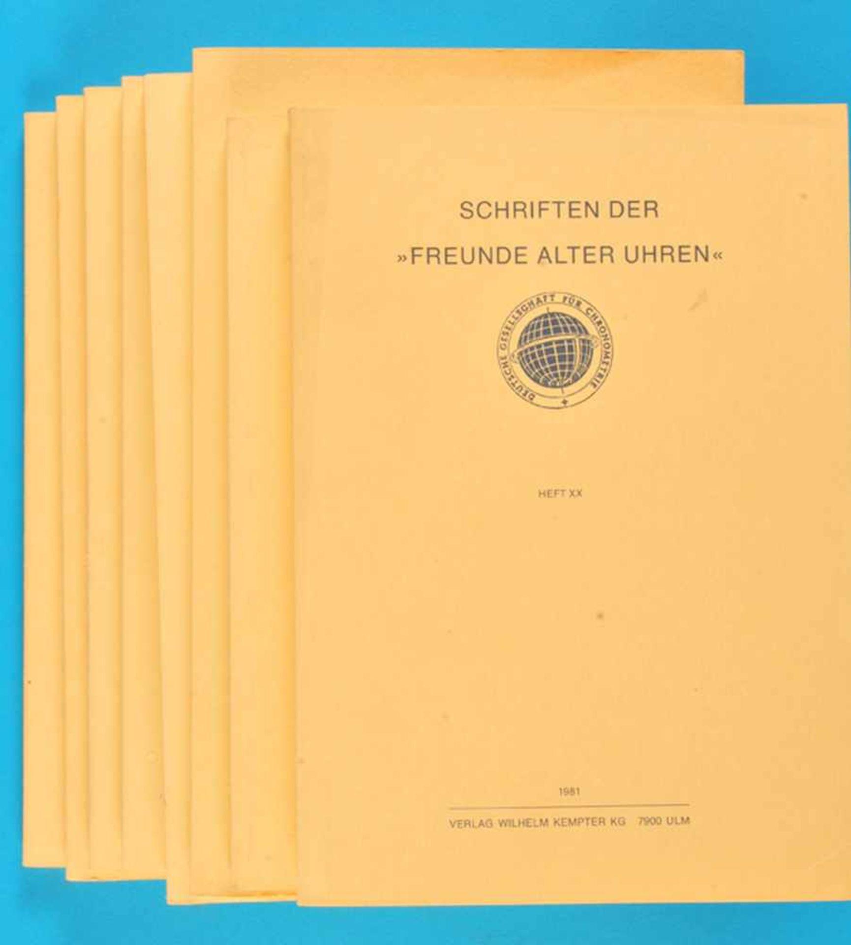 """Los 49 - 8 Hefte """"Schriften der Freunde alter Uhren""""8 Hefte """"Schriften der Freunde alter Uhren"""", XIII/1974"""