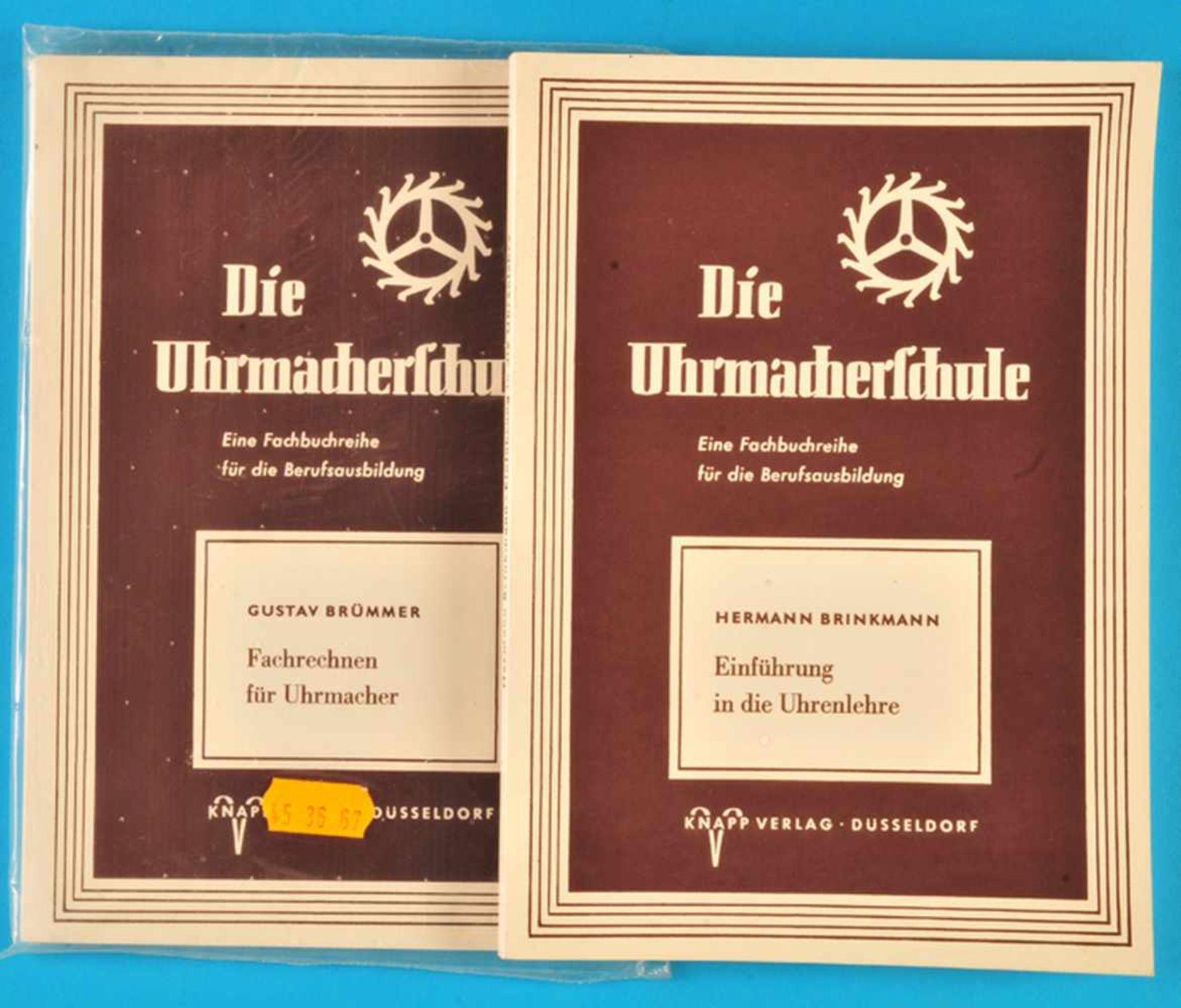 """Los 45 - 2 Hefte """"Die Uhrmacherschule"""", Hermann Brinkmann, Einführung in die Uhrenlehre, 19772 Hefte """"Die"""