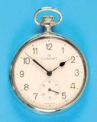 Metal pocket watch, CortebertMetalltaschenuhr, Cortebert, Emailzifferblatt mit arabischen Zahlen,