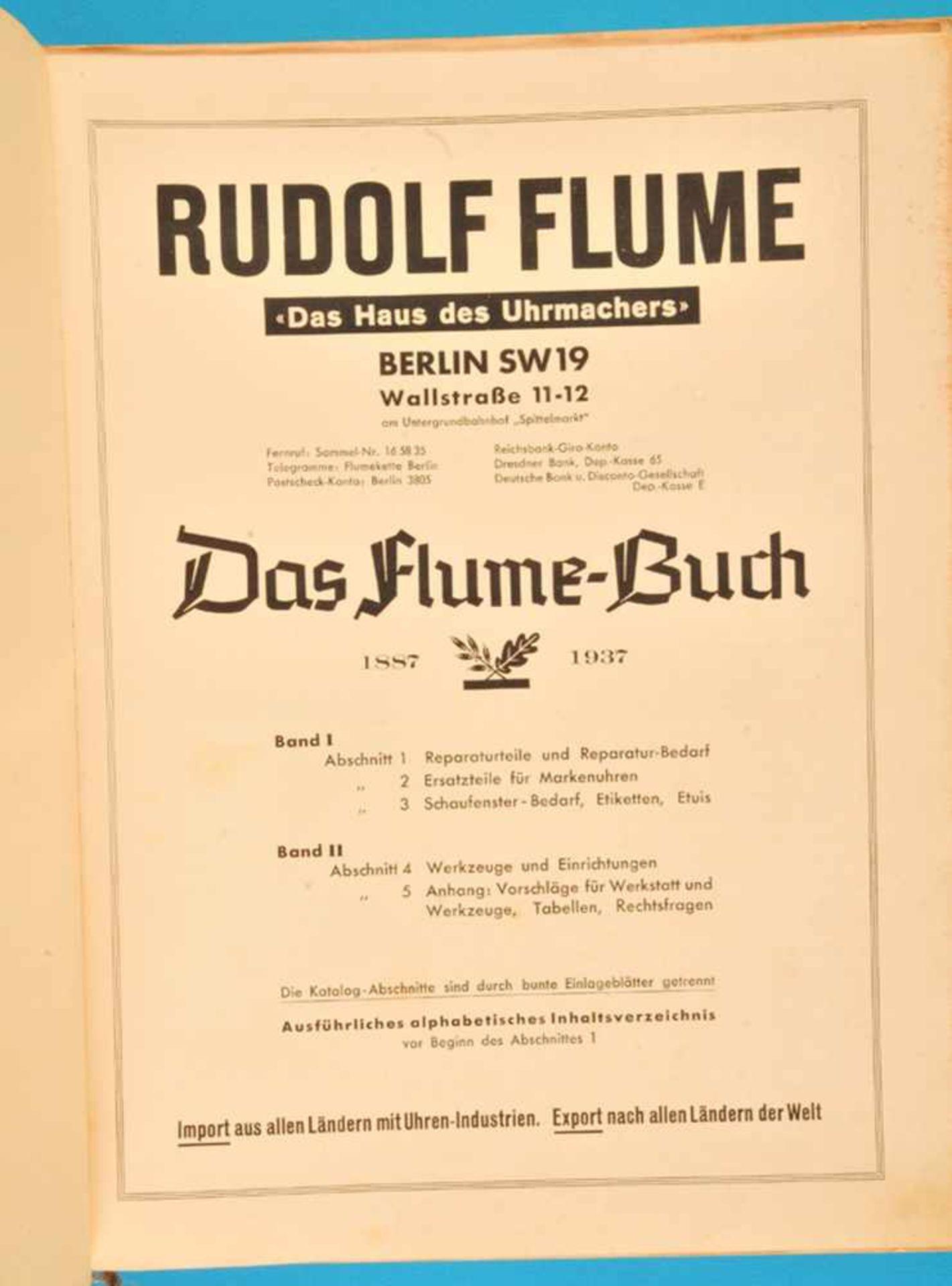Los 32 - Rudolf Flume, Das Flume-Buch 1887-1937, Hauptkatalog von 1937 zum 50-jährigen Bestehen der Firma