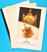 """Bundle of 3 Omega-catalogues 1996Konvolut 3 Omega-Kataloge, """"Sternstunde Omega Constellation"""", 1996,"""