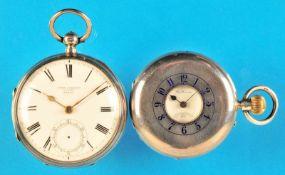 Bundle with 2 english silver pocket watchesKonvolut mit 2 englischen Silbertaschenuhren, John