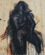 Böhme, Lothar (geb. 1938 in Berlin, lebt in Berlin)Weiblicher AktÖlfarben auf Papier, 1985, 810 x