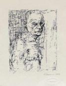Cremer, Fritz (Arnsberg/Ruhr 1906 - 1993 Berlin)Selbstbildnis mit freier BrustLithographie, 1979,