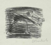 Barlach, Ernst (Wedel/Holstein 1870 - 1938 Rostock)Gang im SchattenLithographie auf Zanders-