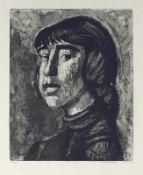 Bergander, Rudolf (Meißen 1909 - 1970 Dresden)MargitRadierung, 1967, 360 x 290, sign., dat., bez. (