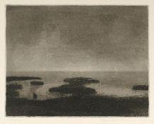 Butzmann, Manfred (geb. 1942 in Potsdam, lebt in Potsdam)WattenmeerRadierung, Aquatinta, 1980, 192 x